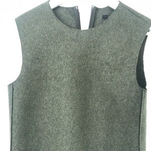 COS wool olive paneled vest size US 4